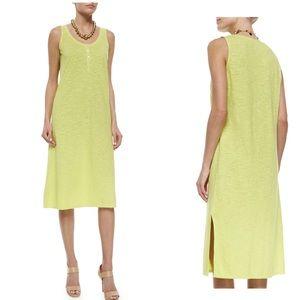 Eileen Fisher Hemp Twist Henley Tank Dress